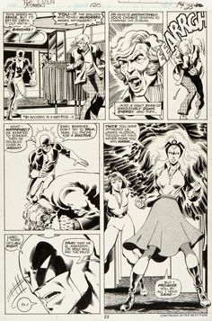 X-Men page 23 by John Byrne & Terry Austin & Glynis Wein. Comic Book Pages, Comic Book Artists, Comic Artist, Comic Books Art, Marvel Comic Universe, Marvel Art, Comics Universe, Marvel Comics, Jack Kirby Art