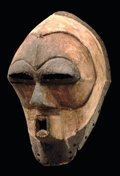 "Africa | Anthropomorphic face mask ""kifwebe"" from the Songye people of DR Congo 