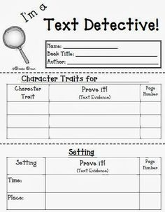 Fern's Freebie Friday ~ I'm a Text Detective Reading Response Mini-Booklet…