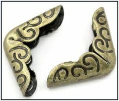 Boekhoekje brons klein 3mm   NIEUW