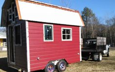 Artist Bungalow: $15,900   Gratitude Builders in Charlotte, N.C., built this 150-square-foot tiny house to resemble a classic barn — a barn on a trailer, that is. It's designed to operate on or off grid, has a propane heater, a sleeping loft and a kitchen with a sink, mini fridge, four-burner stove and oven. However, the shower is attached to the side of the home outside.