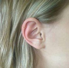 Gold plated unpierced ear cuff