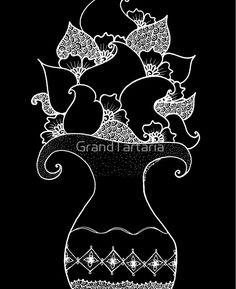 Amphora - Black White iPad Cases & Skins  #TwoHalves #Lifetree #Meditationzen #zentangleart #printabstract #mehendi #Paisley #drawing #Rebirth #Black #White #Yoga #Indian #GrandTartaria #redbubble #flower #oriental #magic #iPad Case  https://www.redbubble.com/people/grandtartaria/works/29944097-amphora-black-white?asc=u&p=ipad-case