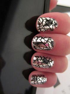 Glass Creative Nail Art . .   Oh my 'lanta!! I LOVE THIS!!!;