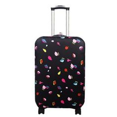Cute 3D Black And White Damask Pattern Luggage Protector Travel Luggage Cover Trolley Case Protective Cover Fits 18-32 Inch