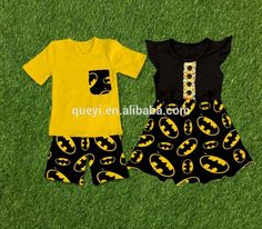boys set girls dress short t shirt outfit ruffle sleeveless dress Rugby printing new style #rugby_clothing, #Stripes