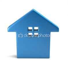Blue house with windows — Stock Photo #90982450