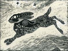 Cosmic Hare  Fine Art Print of Original by KayLeverton on Etsy