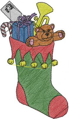 Free Embroidery Design: Christmas Stocking