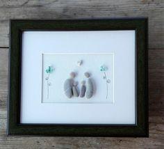 Pebble art family4 Family4 gift home decor housewarming