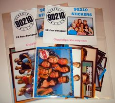 90210 STICKERS  Beverly Hills 90210  retro fun by GiggleSparkle, $8.50