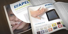 Nasze studio zaprojektowało i przygotowało do druku szereg reklam prasowych dla marki Efapel – portugalskiego producenta łączników i gniazd elektrycznych.  www.dtpowiec.pl