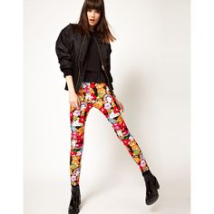 Lazy Oaf Exclusive Cute Leggings ($63) ❤ liked on Polyvore