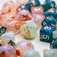 Our four sets we posted to Etsy, 3 sets left! Pathfinder Board Game, Playing Dice, Dungeons And Dragons Dice, Forgotten Realms, Nerd Art, Your Turn, Resin Art, Goblin, Decir No