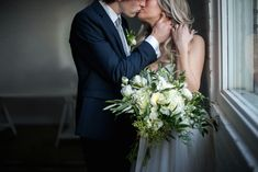 romantic green white inspired wedding bouquet utah florist calie rose mary claire photography