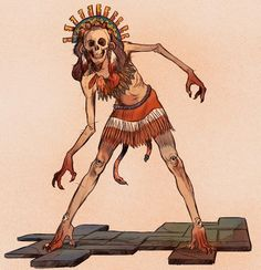 Tzitzimitl - These skeletal monsters are found in Central Mexico, and represent female fertility and pregnancy. However, they will become vicious during a solar eclipse, and will seek out and eat any humans that they can find. They are sometimes regarded as demons, though this is unconfirmed.