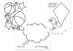 FREE Printable Beach Themed Coloring Sheets #free #print