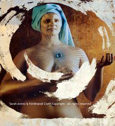 """Freedom"" from Virtues series  FotoPainting on canvas 125x125 cm  Sarah Arensi&Ferdinando Cioffi 2013"