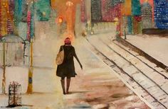 "Saatchi Online Artist Kavita Sarin Dass; Painting, ""On To New Things"" #art"