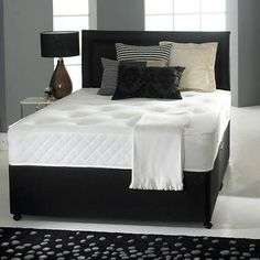 5ft Kingsize Memory Foam Divan Bed Set With Mattress And H Board