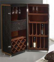Mueble bar con ruedas  Piel de coco  Medidas: 55 x 50 x 125 cm