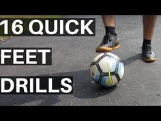 How To Get Good Footwork For Soccer - 16 Quick Feet Drills - YouTube