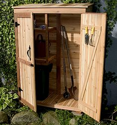 10 Simple and Creative Tricks: Garden Tool Storage Bungee Cord garden tool house garage.Garden Tool Sheds Craft Rooms garden tool organization garage.Garden Tool Shed Yards. Cedar Shed, Cedar Garden, Garden Gazebo, Garden Tool Shed, Garden Storage Shed, Colorado Landscaping, Pool Shed, Outside Storage, Outdoor Storage
