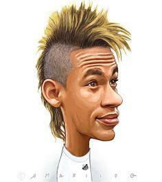 Neymar - Caricatura