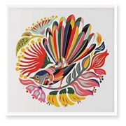 """*LARGE* CANVAS ART """"Colourful Fantail"""" by Tofutree for sale on Trade Me, New Zealand's auction and classifieds website Maori Patterns, Large Wall Decals, Maori Designs, Nz Art, Maori Art, Kiwiana, Textiles, Large Canvas Art, Bird Tree"""