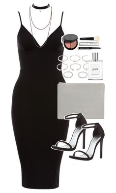 """""""Outfit for a night out with a bodycon dress"""" by ferned on Polyvore featuring Status Anxiety, Stuart Weitzman, Forever 21, philosophy and Bobbi Brown Cosmetics"""