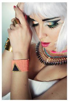 Bracelet manchette en perles tissées Peyote ►Inspiration CLEOPATRE ◄ Délai de réalisation 10 jours : Bracelet par nopie