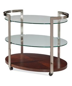 This Three-Tier Mobile Tea Cart by Bassett Mirror Company is perfect! #zulilyfinds