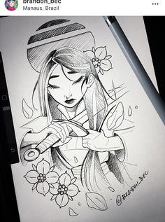 64 Best Ideas Tattoo Disney Mulan Beautiful, - La mejor imagen sobre diy crafts para tu gusto Estás buscando algo y no has podido alcanzar la im - Disney Princess Drawings, Disney Sketches, Disney Drawings, Disney Fan Art, Art Drawings Sketches, Cute Drawings, Beautiful Drawings, Disney Sleeve, Cartoon Cartoon