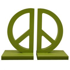 Peace Sign Bookends