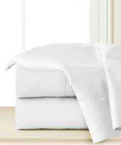 White Staple Cotton Deep-Pocket Sheet Set
