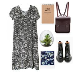 Untitled #19 by cornelia-poeschl on Polyvore featuring polyvore fashion style Jeffrey Campbell The Cambridge Satchel Company Polaroid