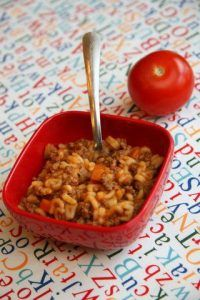 One Pot Wonders For Babies & Toddlers Bébé Bolognese – great homemade kid friendly meal. I freeze this in silicone muffin cups for quick easy meals for the kids! Toddler Meals, Kids Meals, Toddler Food, Baby Meals, Toddler Finger Foods, Baby Food Recipes, Cooking Recipes, Pasta For Toddlers Recipes, Skillet Recipes