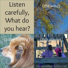 Let's Go On a Listening Walk is a great way to get kids outside using their ears, too! from Creative Family Fun