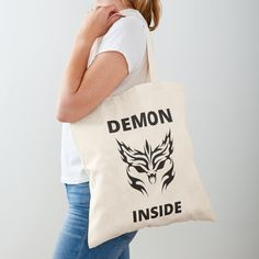 Demon Inside : O - Get yourself a funny custom desing from RIVEofficial Redbubble shop : )) .... tags: #demon  #inside #inner #monster #halloween #2020 #spooky #funny #humour #giftideas #beast #creepy #design #creature #cool #badass #shirtsonline #trends #riveofficial #favouriteshirts #art #style #design #nature #shopping #insidecollection #redbubble #digitalart #design #fashion #phonecases #access #customproducts #onlineshopping #accessories #shoponline #onlinestore #shoppingonline Cotton Tote Bags, Reusable Tote Bags, Funny Humour, Pin Pin, My Portfolio, Halloween 2020, Cool Stuff, Stuff To Buy, Custom Design