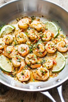 shrimp recipes When youre looking for a quick, light dinner thats packed with fresh flavors, these honey cilantro lime shrimp are super quick and easy to make. Lime Shrimp Recipes, Cilantro Recipes, Cilantro Lime Sauce, Cilantro Lime Shrimp, Lemon Garlic Shrimp, Easy Fish Recipes, Seafood Recipes, Cooking Recipes, Healthy Recipes