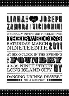 typography invite