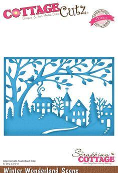 Cottage Cutz - Dies - Winter Wonderland Scene,$22.95
