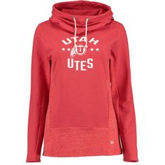 Women's Under Armour Red Utah Utes Performance Hoodie