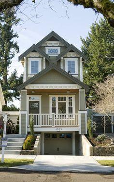 homes on narrow lots   John M. Vincent / The Oregonian Royal Custom Homes built a narrow-lot ...