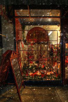 Looking through night windows.....Let it snow
