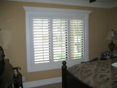 Would love to do this to my bedroom window! Love plantation shutters!