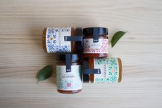 Afternoon tea is never complete without a few biscuits and jam and Marmalade Nina will do just the trick. Designed by Barbara Gonzalez, preserved citrus is packaged in glass jars. Jam Packaging, Brand Packaging, Design Packaging, Packaging Ideas, Label Design, Branding Design, Graphic Design, Package Design, Fresco