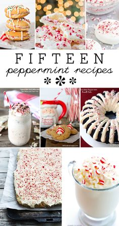 15 Peppermint Recipes for the Holidays 15 delicious peppermint recipes for the holidays or anytime youre craving a little peppermint pick-me-up! Source by yellowblissroad Christmas Goodies, Christmas Desserts, Christmas Treats, Christmas Baking, Holiday Treats, Christmas Fun, Holiday Recipes, Christmas Recipes, Xmas