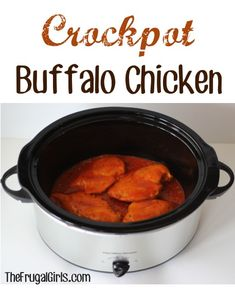 On the hunt for another delicious and of course seriously easy Crockpot Chicken Recipe? If you love spicy, you'll really LOVE this Crockpot Buffalo Chicken Recipe! The recipe couldn't be easier, an. Crock Pot Food, Crock Pot Slow Cooker, Slow Cooker Recipes, Crockpot Recipes, Real Food Recipes, Cooking Recipes, Yummy Food, Yummy Recipes, Foodies