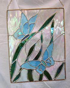 Butterfly Panel of Stained Glass by JuliaLouiseShop on Etsy, $38.00